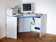 Elegantní počítačový stůl v bílé barvě
